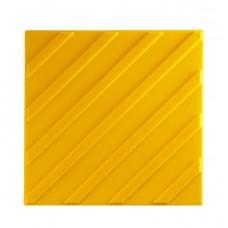 Тактильная плитка клеевая из поливинилхлорида (ПВХ) Диагональный риф