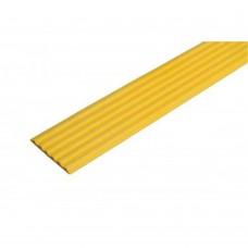 Направляющая резиновая тактильная антискользящая полоса (лента) желтая 29 мм