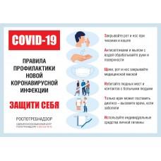 """Стенд """"Правила профилактики Коронавирусной инфекции"""""""